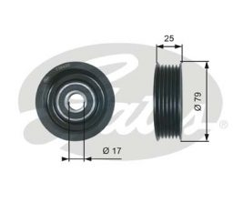 GATES Tensioner Pulley: T36420