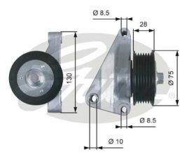 GATES Tensioner Pulley: T36422