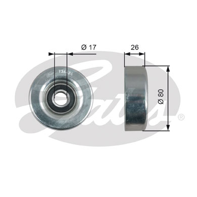 GATES Tensioner Pulley: T36424