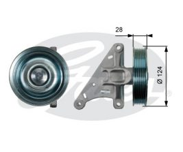 GATES Tensioner Pulley: T36427