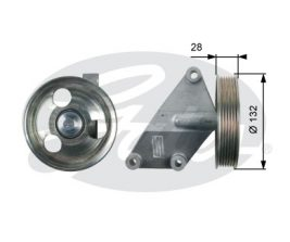 GATES Tensioner Pulley: T36428