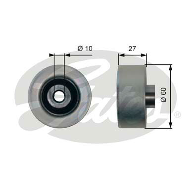 GATES Tensioner Pulley: T36431