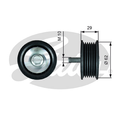 GATES Tensioner Pulley: T36443