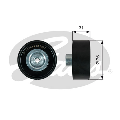 GATES Tensioner Pulley: T36444