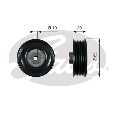 GATES Tensioner Pulley: T36448