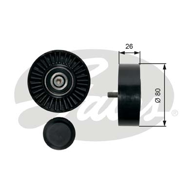 GATES Tensioner Pulley: T36452