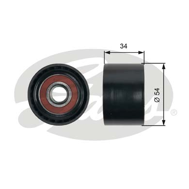 GATES Tensioner Pulley: T36453