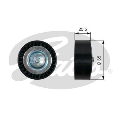 GATES Tensioner Pulley: T36454