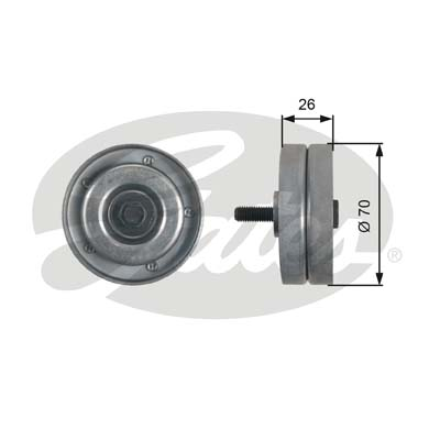 GATES Tensioner Pulley: T36466