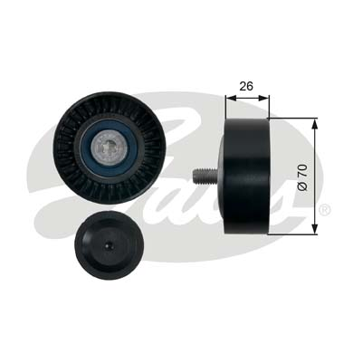 GATES Tensioner Pulley: T36483