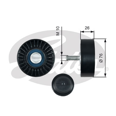 GATES Tensioner Pulley: T36485