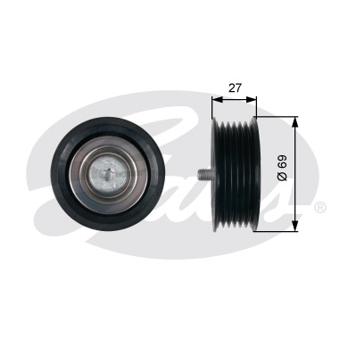 GATES Tensioner Pulley: T36487