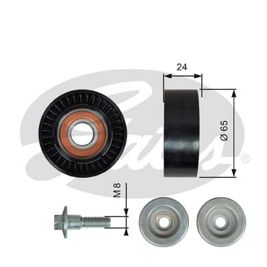 GATES Tensioner Pulley: T36493