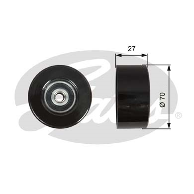 GATES Tensioner Pulley: T36608