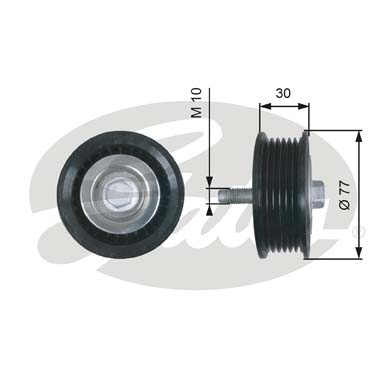 GATES Tensioner Pulley: T36610