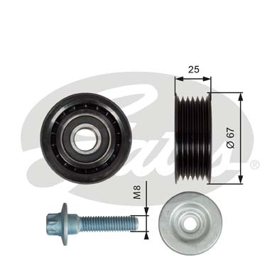 GATES Tensioner Pulley: T36619