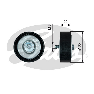 GATES Tensioner Pulley: T36734