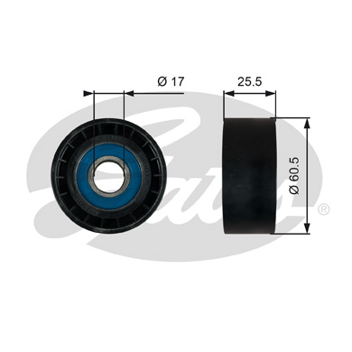 GATES Tensioner Pulley: T36754