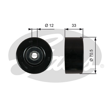 GATES Tensioner Pulley: T36762