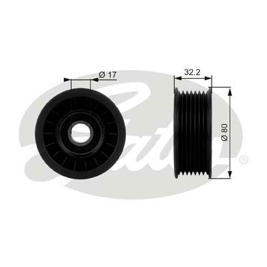GATES Tensioner Pulley: T38016