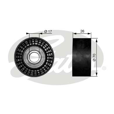 GATES Tensioner Pulley: T38018