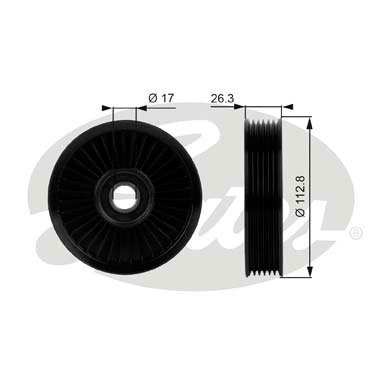 GATES Tensioner Pulley: T38024