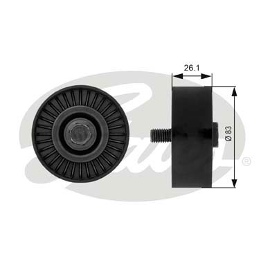 GATES Tensioner Pulley: T38027