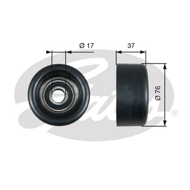 GATES Tensioner Pulley: T38028