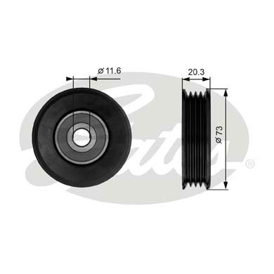GATES Tensioner Pulley: T38031