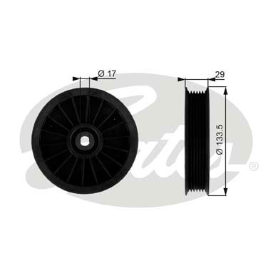 GATES Tensioner Pulley: T38034