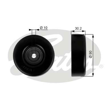 GATES Tensioner Pulley: T38042