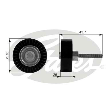 GATES Tensioner Pulley: T38054