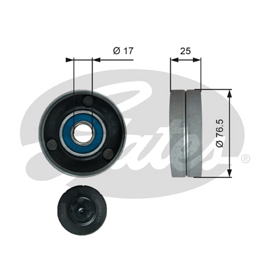 GATES Tensioner Pulley: T38059