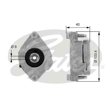 GATES Tensioner Pulley: T38147