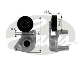 GATES Tensioner Pulley: T38149
