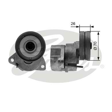 GATES Tensioner Pulley: T38154