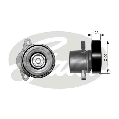 GATES Tensioner Pulley: T38156