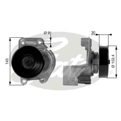 GATES Tensioner Pulley: T38173