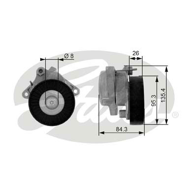 GATES Tensioner Pulley: T38174