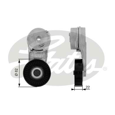 GATES Tensioner Pulley: T38177