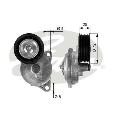 GATES Tensioner Pulley: T38188