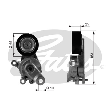 GATES Tensioner Pulley: T38209