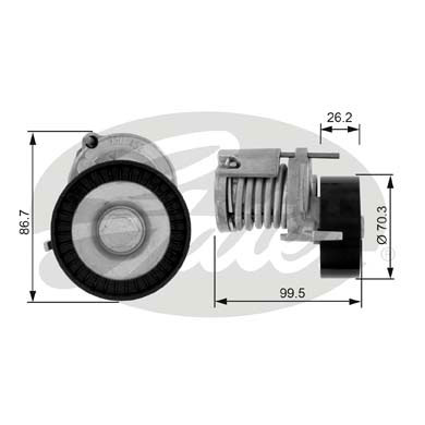 GATES Tensioner Pulley: T38214