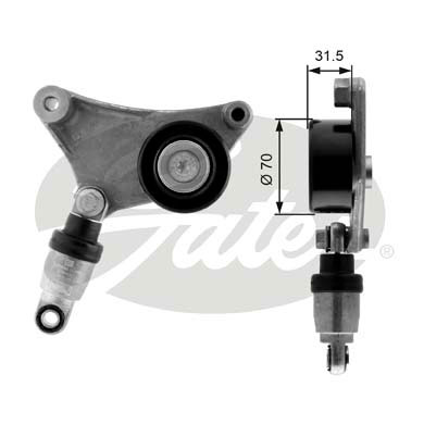 GATES Tensioner Pulley: T38216