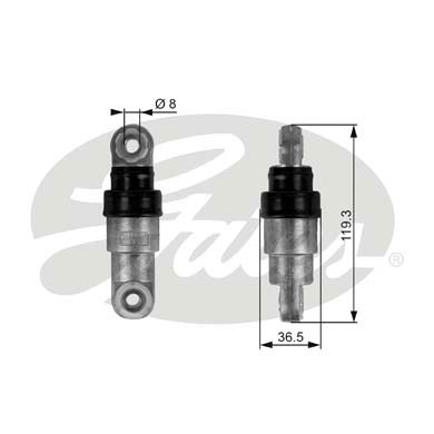 GATES Tensioner Pulley: T38218
