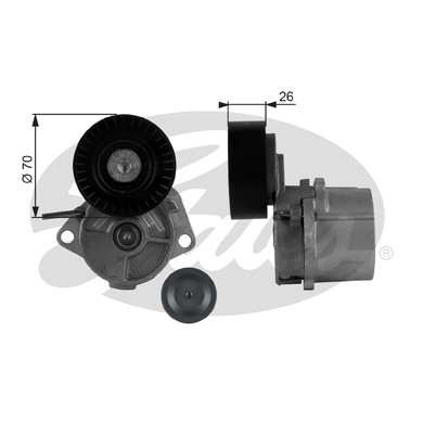GATES Tensioner Pulley: T38223