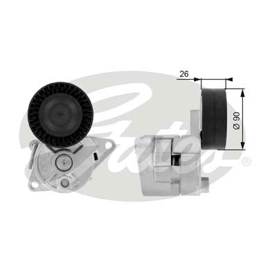 GATES Tensioner Pulley: T38224