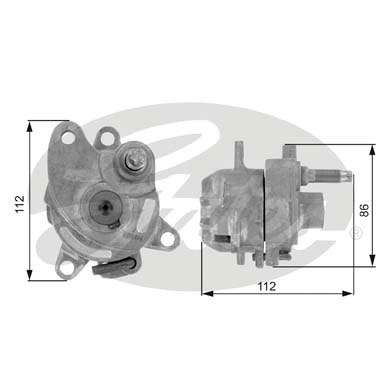 GATES Tensioner Pulley: T38225