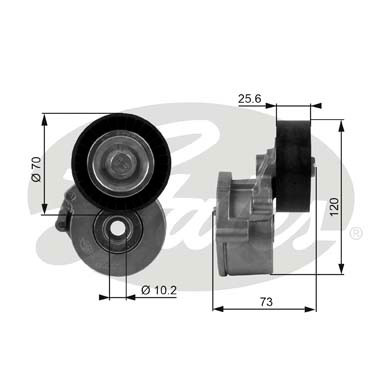 GATES Tensioner Pulley: T38237