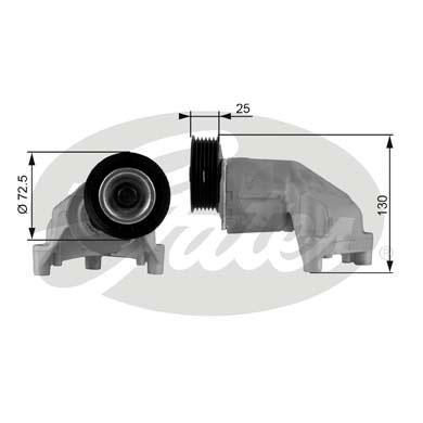 GATES Tensioner Pulley: T38272